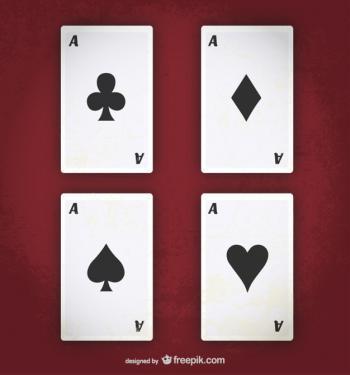 kortteja punaisella taustalla